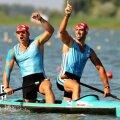 Mihalachi şi Dumitrescu sărbătoresc cîştigarea unei noi medalii