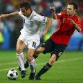 Iniesta (dreapta) și Cassano s-au întîlnit și la Euro 2008, cînd ibericul a avut cîștig de cauză // Foto: Gulliver/GettyImages