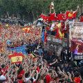 Nebunie la Madrid la petrecerea campionilor