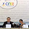 Carmen Tocală, Victor Ponta, Ecaterina Andronescu şi Octavian Morariu au luat loc ieri la aceeaşi masă