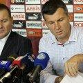 Sabău a fost însoțit la conferința de presă de președintele executiv Constantin Zotta