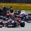 Momentul în care Grosjean pierde controlul monopostului.
