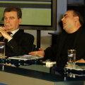 Dinu Gheorghe (stînga) și Gigi Nețoiu ar putea să fie colegi de Parlament din luna decembrie