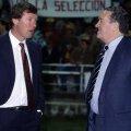 Doi mari antrenori scoţieni: Jock Stein (dreapta) şi Alex Ferguson.