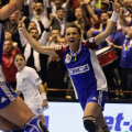 Iulia Curea a marcat şase goluri în meciul cu Randers.
