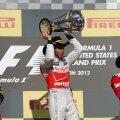 Podiumul din Texas: Hamilton, Vettel, Alonso.