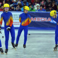 Bianca Stănică, Teodora Pană, Tamas Antal şi Emil Imre (de la stînga la dreapta) au participat ieri la ştafeta mixtă // Foto: Cristi Preda