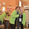 Alexandra Mureșan (stînga) și Amy Howard în Centrul voluntarilor de la Poiana Brașov Foto: Raed Krishan