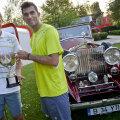 Max, Horia, trofeul și o mașină de epocă la Arenele BNR