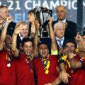 Spania sărbătoreşte al 4-lea Euro cîştigat la U21 // Foto: Reuters