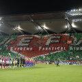 Coregrafia realizată de fanii polonezi i-a impresionat inclusiv pe românii prezenți pe stadion // Foto: Raed Krishan (Varșovia)