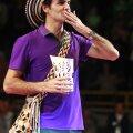 Roger Federer, după ce la bătut pe Jo-Wilfried Tsonga într-un meci demonstrativ la Bogota