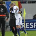 Jose Mourinho și Andre Schurrle, după golul 3 al lui Chelsea
