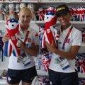 Daniela Dodean (stînga) şi Eliza Samara au fost coechipiere la două ediţii ale JO, 2008 şi 2012, iar în viaţa de zi cu zi sînt fină şi naşă