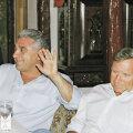 Giovanni Becali și Vova Cohn (dreapta) au lucrat împreună la finalizarea transferurilor de la Dinamo, puse sub acuzare de DNA