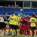 Greșelile lui Radu Petrescu din meciul tur i-au tensionat pe jucătorii ambelor echipe