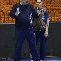 Gheorghe Tadici, în discuţie cu Luciana Marin, la Mondialul din 2013, gata să-şi încheie un nou mandat // Foto: Marius Ionescu