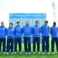 9 fotbalişti au fost prezentaţi ieri de CSU: Straton, Mateiu, Dănănae, Băluţă, Frăsineanu, Kay, Nuno Rocha, S. Achim şi Neacşa