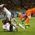 Arjen Robben a fost faultat de 8 ori de către jucătorii din Costa Rica