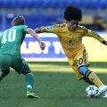 Azevedo (dreapta) are 3 goluri în 39 de meciuri jucate pentru Metalist