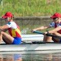 Laura Oprea (stînga) şi Cristina Grigoraş (dreapta) au ratat podiumul mondial în proba de dublu rame