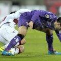 Giuseppe Rossi (dreapta) şi genunchiul său drept cu probleme // Foto: Guliver/GettyImages