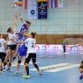 Valentina Elisei Ardean a fost una dintre cele mai bune jucătoare ale gazdelor, marcînd de 4 ori // Foto: emaramureş.ro
