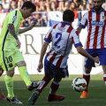 Messi a decis duminică meciul cu Atletico, marcînd al 41-lea gol în campionat // Foto: Reuters
