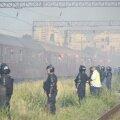 Jandarmii i-au așteptat pe fanii clujeni în Gara Obor
