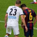 Momentul discuției dintre Lopo și Xavi