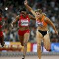 Dafne Schippers trece prima linia de sosire la 200 de metri