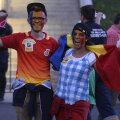 Suporterii se distrează în Fan Zone-ul pregătit de FRF