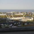 Panoramă superbă a oraşului Torshavn, cu stadionul Torsvollur în prim-plan