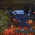 Tricolorii au aprins lumînări pentru victimile incendiului de la Colectiv.