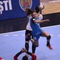 Carmen Martin a avut o singură ratare în meciul de aseară, dar a primit puține mingi pe extremă // Foto: Raed Krishan