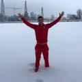 Filip a postat pe pagina personală de facebok o poză cu zăpada aşternută la Săftica