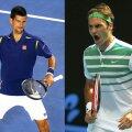 Novak Djokovici și Roger Federer, foto: reuters