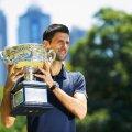 Novak Djokovici și al șaselea său trofeu la Australian Open, foto: reuters
