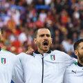 Implicare maximă a italienilor la intonarea imnului // FOTO Guliver/GettyImages