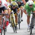 Andre Greipel, stânga, și Mark Cavendish, dreapta, în ultima sforțare pentru etapă, foto: reuters