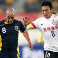 Li Chunyu, în dreapta, nu a fost prea norocos