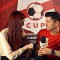Jolanta la un interviu cu vedeta naționalei Poloniei, Robert Lewandowski