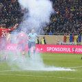 În repriza a doua a meciului cu Polonia, 0-3, o petardă a explodat la numai un metru de Lewandowski