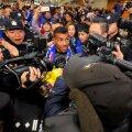 """Carlitos, în mijlocul """"vulcanului"""" // FOTO AFP"""