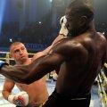 Cătălin Moroșanu (stânga) luptând cu olandezul Colin George într-o gală Superkombat din 2015, de la Constanţa FOTO Mediafax
