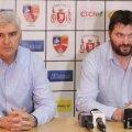 Aihan Omer (stânga) și Ionuț Rudi Stănescu, la prezentarea oficială // FOTO Telegraf-Constanța