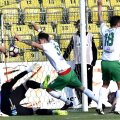Explozia de bucurie a lui Albu (nr. 3), după golul de 2-1