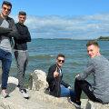 Țucudean, Nedelcu, Roșu și Casap, relaxați pe malul mării