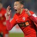 Valentin Costache (18 ani), celebrând singurul său gol reușit în Liga 1, în partida cu FC Botoșani din februarie 2016/ FOTO: Cristi Preda