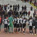 Jucătorii au făcut front comun cu ultrașii și au solicitat o nouă arenă în Ștefan cel Mare // Foto: Alex Nicodim